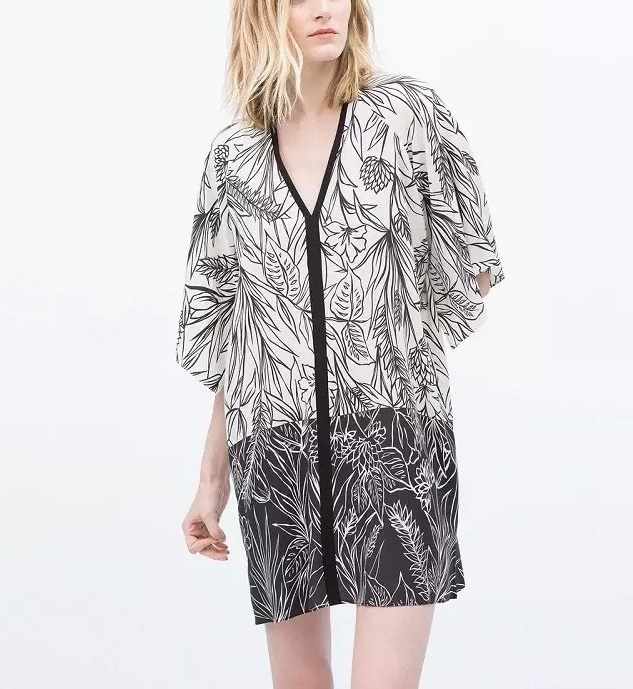 Fashion Summer Women Elegant Floral Leaf print batwing ...