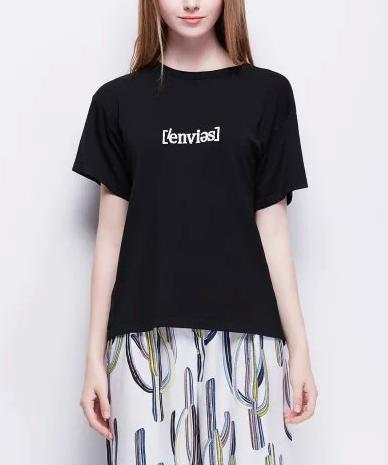 Fashion Summer Women Elegant Knitted letter print T-...