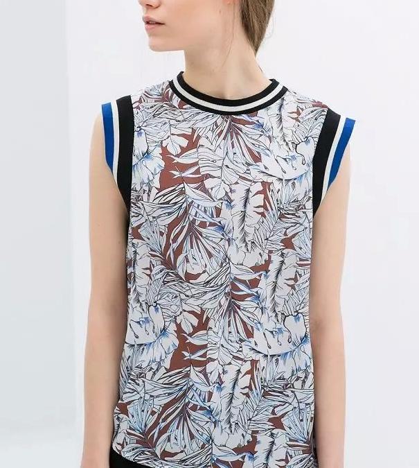 Fashion Women Elegant Basic Floral Print Blouses Vintage ...