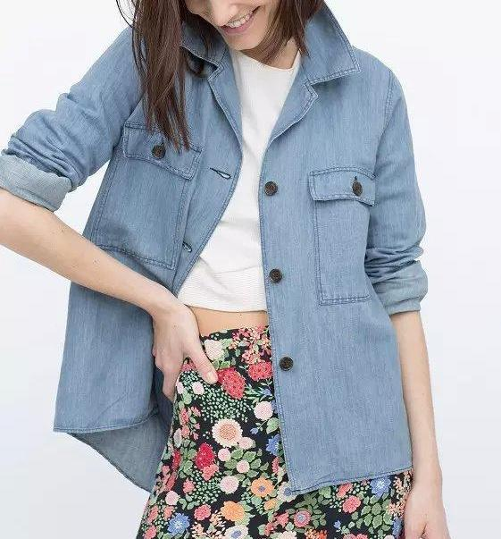 Fashion Women Elegant blue Denim Turn-down collar Jacket ...