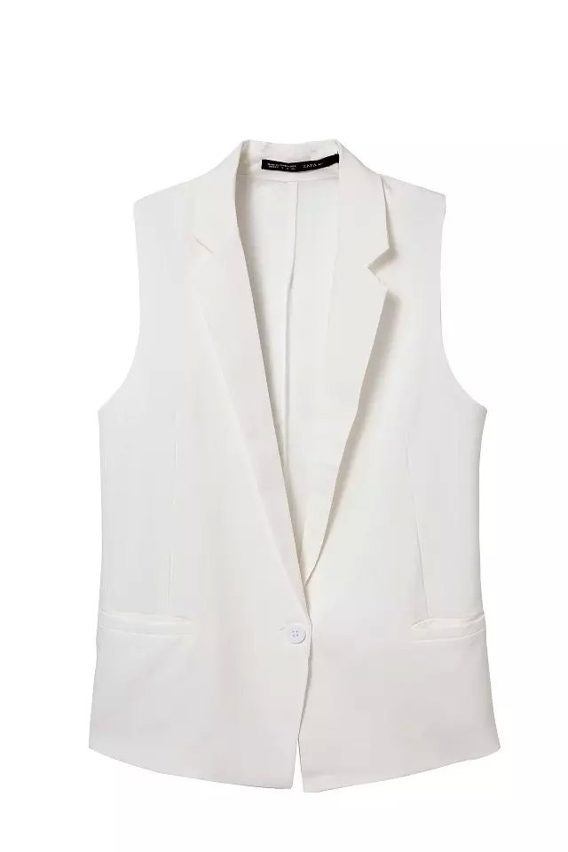 Fashion Women Elegant Chiffon Coats Sleeveless White ...
