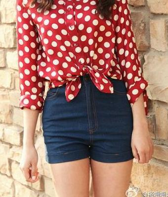 Fashion Women Elegant Denim Shorts pockets button zipper ...
