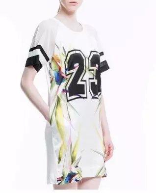 Fashion Women Elegant Digital printed Dress vintage ...