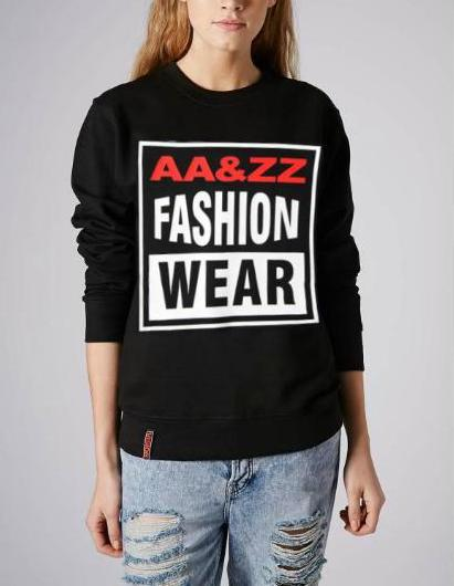 Fashion women elegant letter sports pullover outwear ...