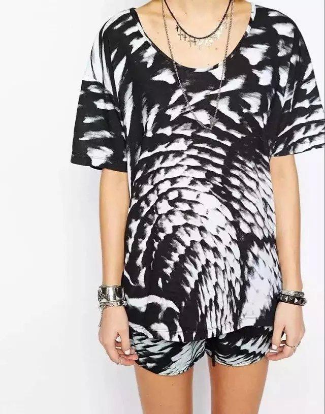 Fashion Women Elegant Punk Style short sleeve T shirt ...