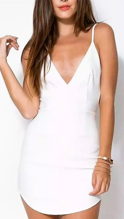 Fashion Women Elegant Spaghetti Strap backless Dress ...