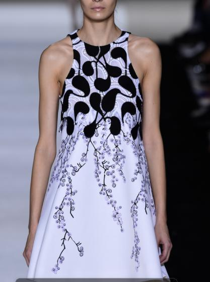 Fashion Women Elegant Sweet floral Printed Dresses vintage O-neck sleeveless white back Zipper casual dress