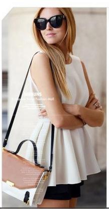Fashion Women Elegant White Blouse Office Lady O Neck ...