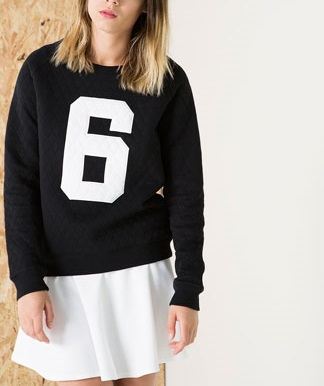 Fashion Women number print sport black pullovers shirts ...
