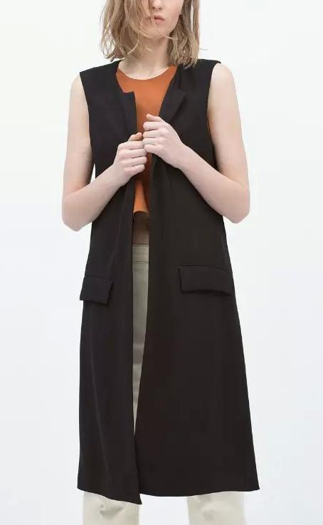Fashion Women Office Elegant Long Cardigan Sleeveless ...