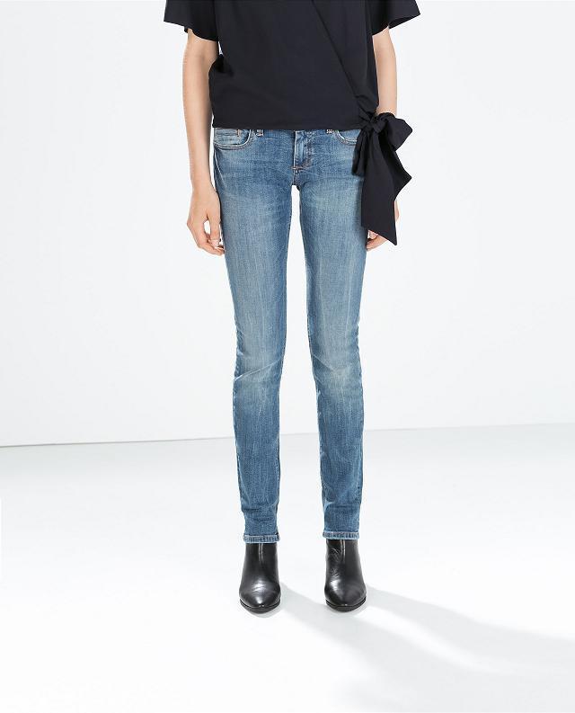 Fashion women pocket hole Jeans skinny legging pants ...