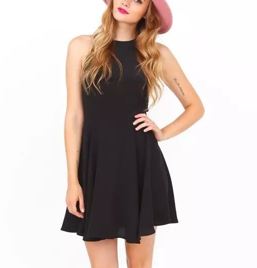 Fashion Womens Elegant black Backless sleeveless Chiffon ...