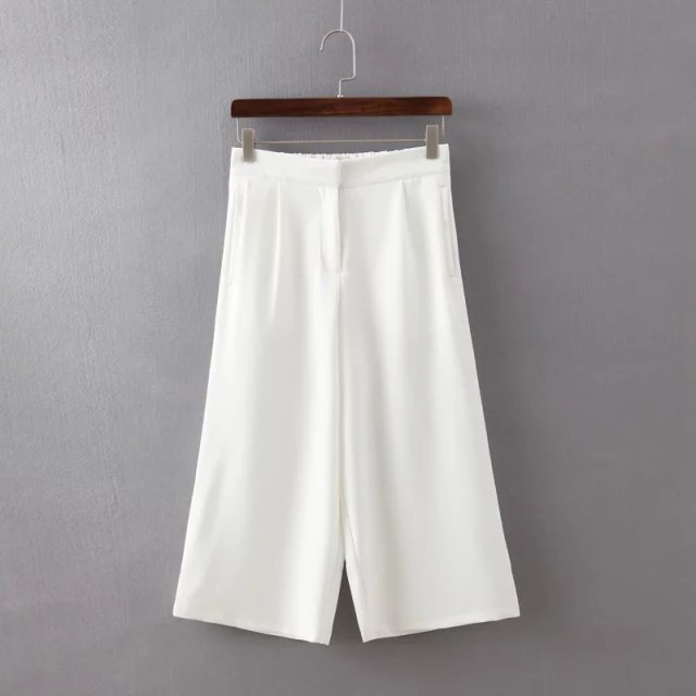 Fashion women's Elegant Wide Leg cozy trouses loose ...