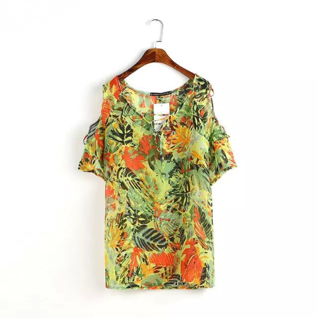 Fashion Womens Floral print sexy summer Off Shoulder ...
