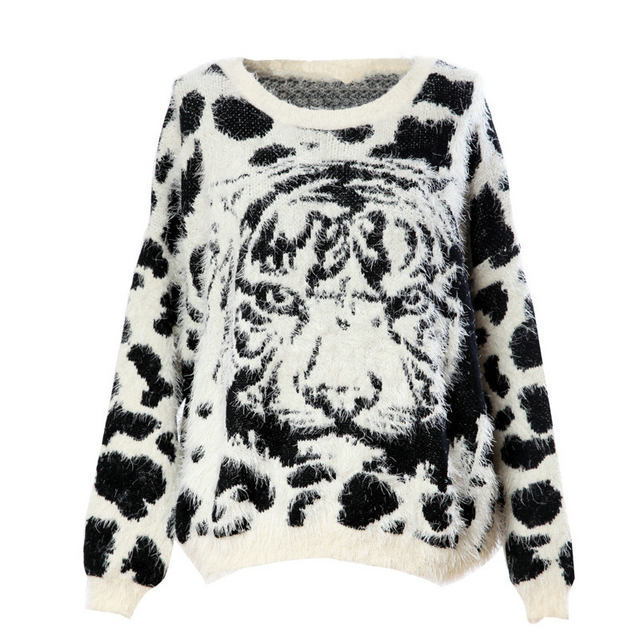 New Fashion Ladies' elegant Cartoon Tiger Head print ...