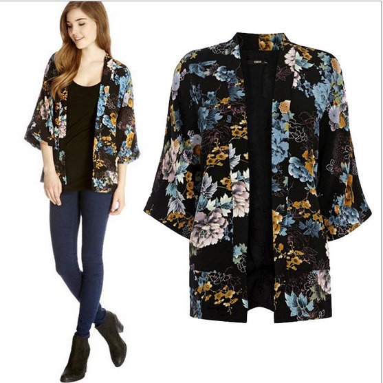 New Fashion Ladies' Vintage flower print Phoenix Pattern ...