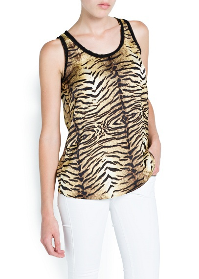 New Fashion Ladies'elegant tiger stripes shirt sleeveless ...