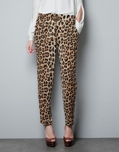 new Fashion women Leopard print pants elegant slim look ...