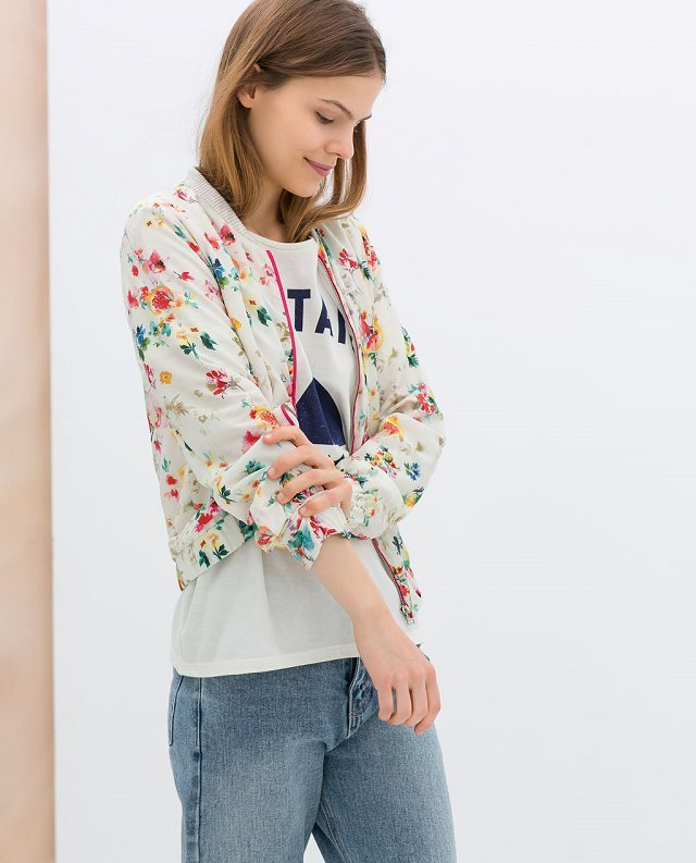 New fashion womens' elegant spring floral print jacket ...