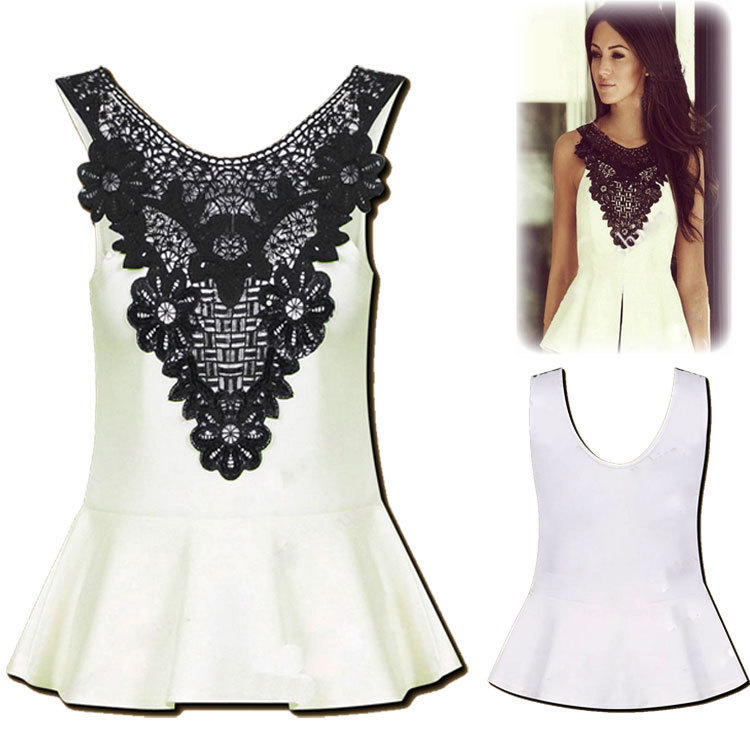 Plus size fashion women sexy elegant ruffles blouse ...
