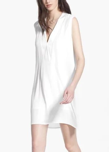 Summer Fashion Women Chiffon Satin V-neck Mini Dresses ...