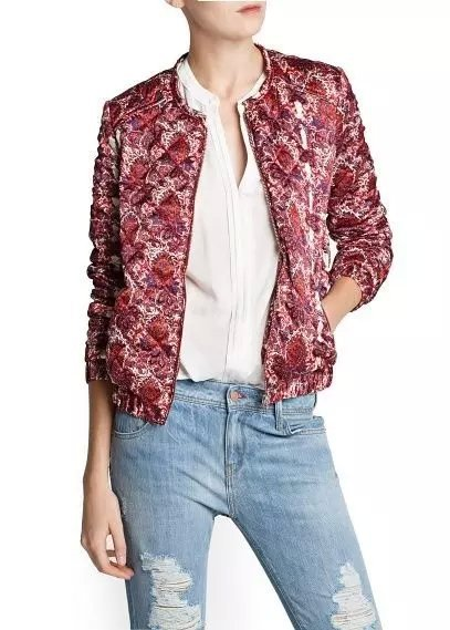 Winter New red floral pattern cotton-padded clothes ...