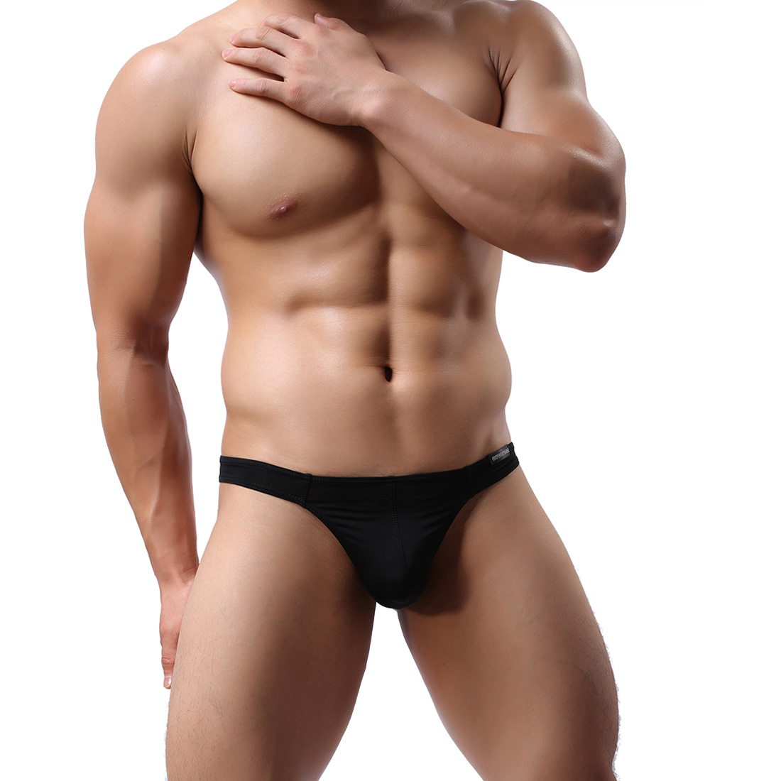 Men's Lingerie Underwear Sexy T-back G-string WH47 Black ...