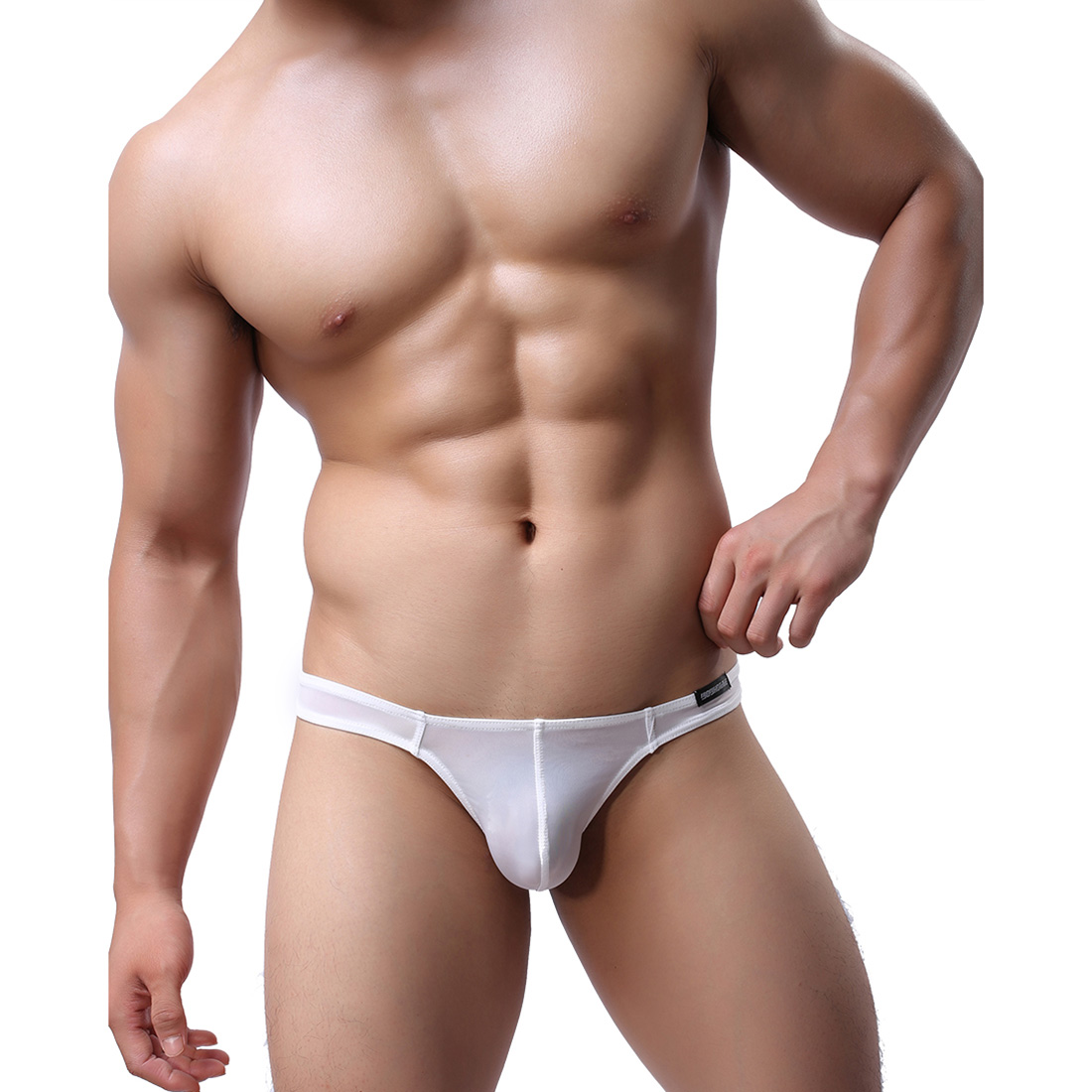 Men's Lingerie Underwear Sexy T-back G-string WH47 White ...