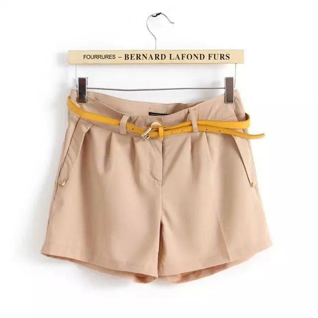 2Q18 Fashion Women shorts zipper European Style pockets ...