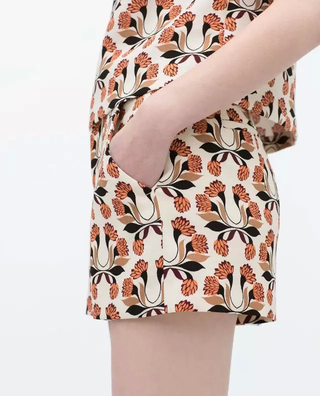 OZ35 Summer Fashion elegant floral print shorts For ...