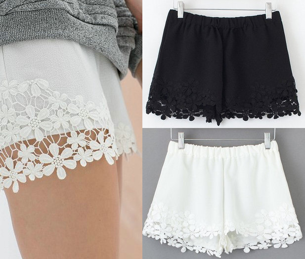 03X476 Summer Fashion Ladies' elegant sweet lace shorts ...