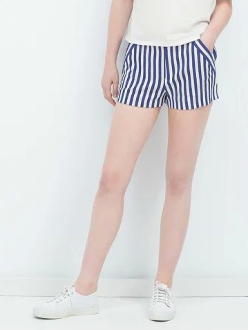 FA01 Fashion summer Women Elegant Stripe casual brand design zipper pocket Plus Size shorts