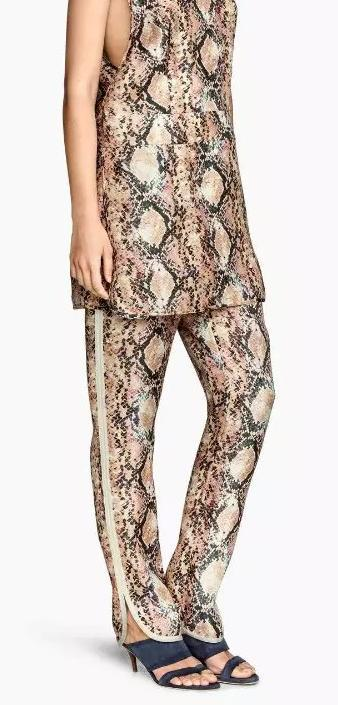 YD46 Fashion Ladies Elegant Snake printed Elastic waist ...