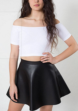 04DM02 new fashion womens' rivet PU Leather Ruffles Pleated Sexy Mini Skirt elegant classic black casual Drop shipping