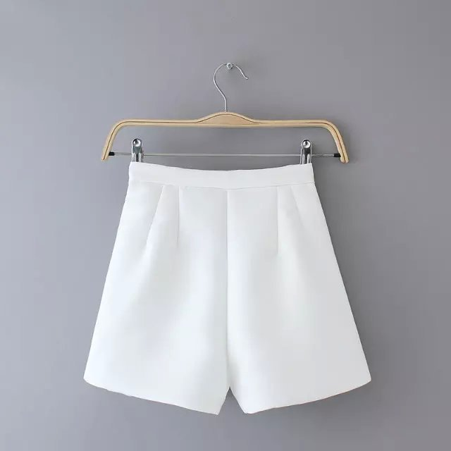 AZ23 Fashion Ladies' elegant zipper white shorts work ...