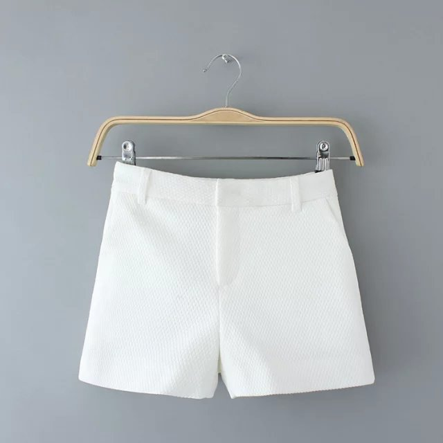 RG23 Fashion Ladies' elegant zipper pocket white shorts ...