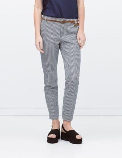 XC16 Fashion women Elegant Stripe Print Sashes pockets ...
