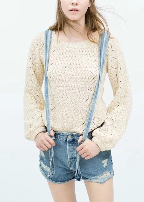 FG11 Fashion Women Elegant classic blue denim suspender ...