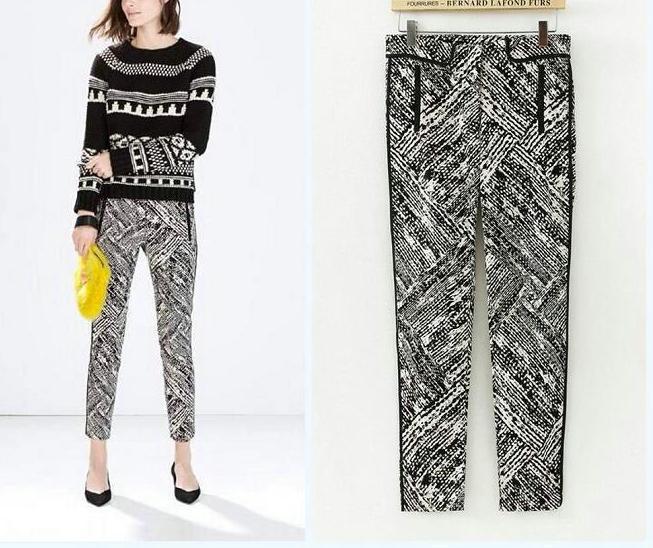 03JQ02 Fashion women's Elegant Contrast color print ...