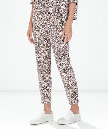 03LF6582 Fashion women's Elegant floral print suit pants ...