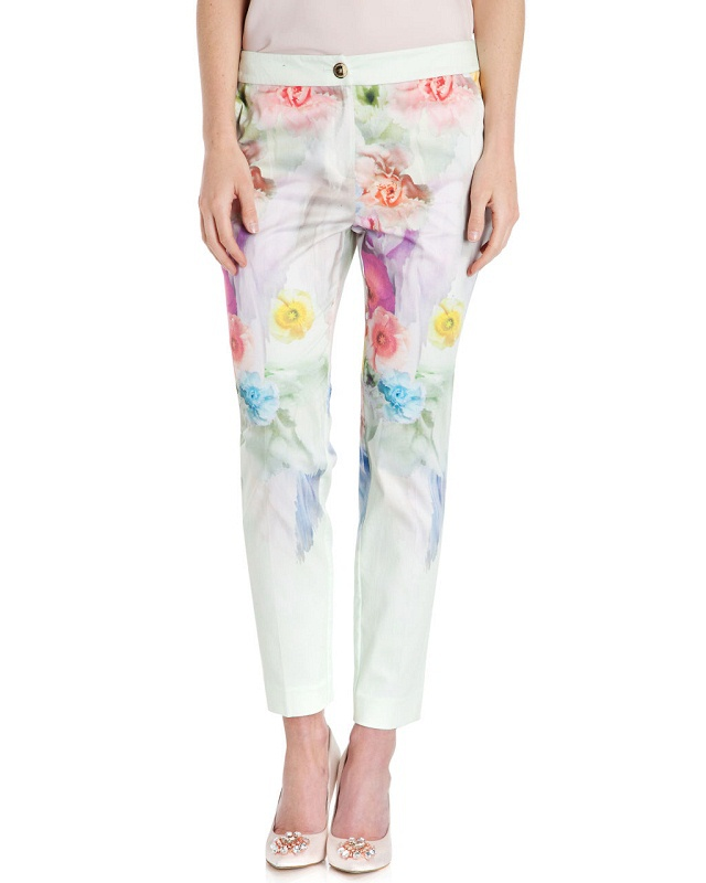 03TH24 Fashion women's Elegant floral print suit pants ...