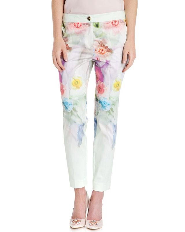 03TH24 Fashion women's Elegant floral print suit pants ...
