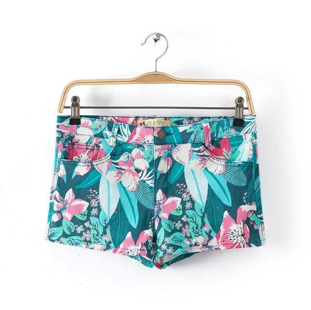 XD63 Fashion Summer Ladies' elegant floral print Zipper ...