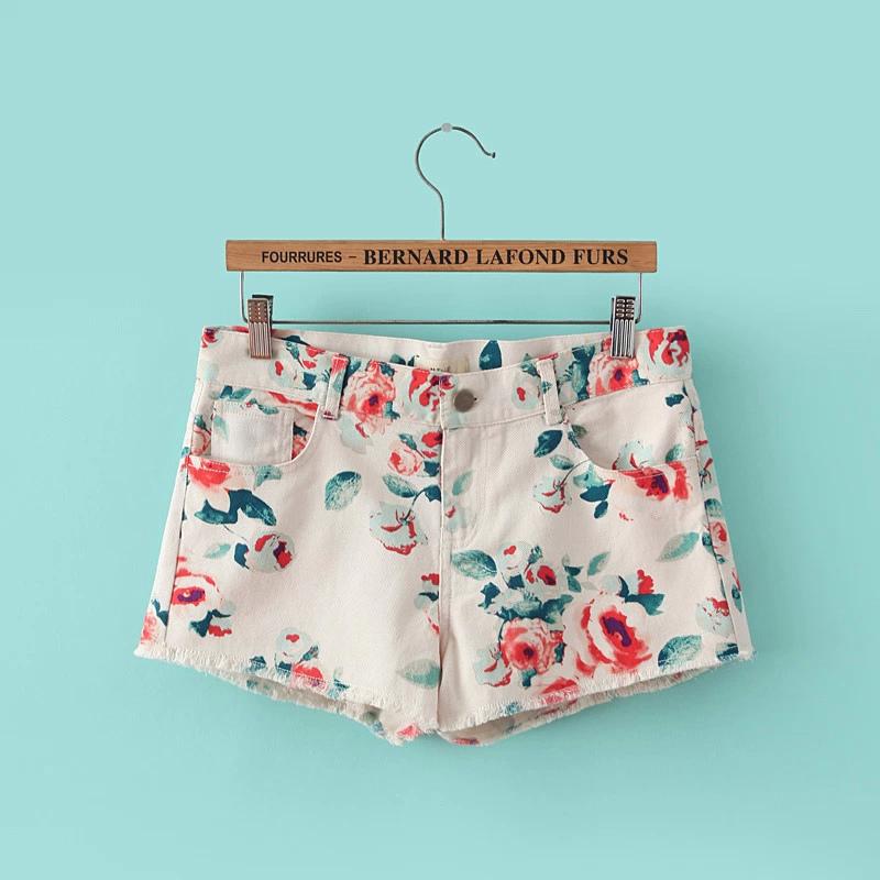 XYY24 Fashion Summer Women Floral Print pocket Cowboy ...