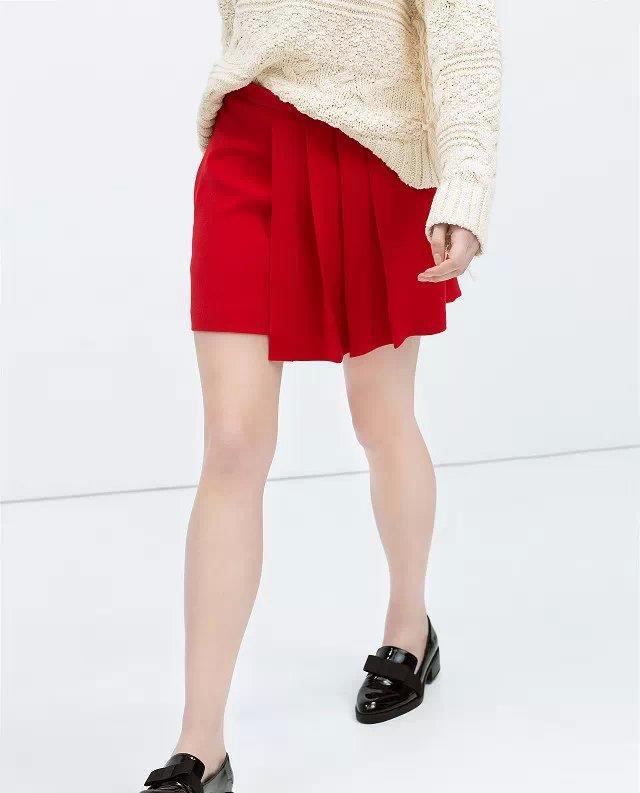 XC21 Fashion Summer Women Elegant Red Ruffle Pleated Skirt Plus Size casual slim brand designer skirts