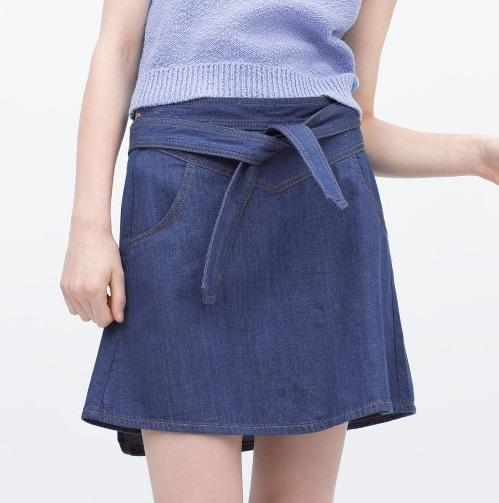 XD44 Fashion summer women Blue denim Pocket Sashes Mini Skirts Plus Size casual slim Quality Brand skirt