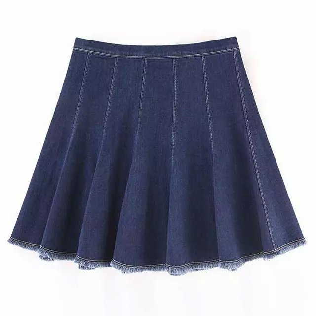 GT07 Fashion Women Elegant vintage pleated Flare mini zipper High Waist Skirt casual American Style brand skirts