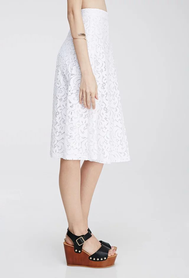 XIC12 Fashion Summer Women Elegant Crochet Lace Skirt casual slim brand designer skirts
