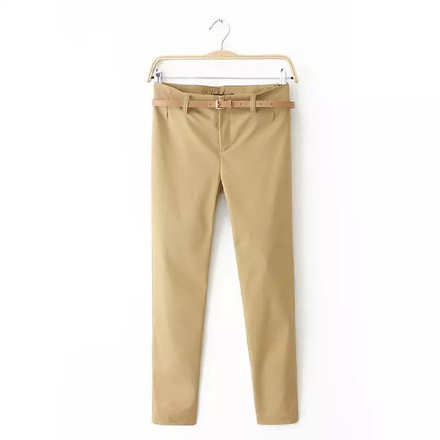 AZ01 Fashion women Elegant basic Stretch suit pants ...