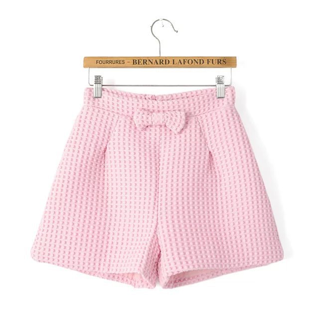 WN07 Fashion Summer Ladies' elegant zipper Bow Tie shorts ...